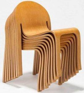 Plywood ahşap sandalye